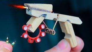 Как сделать мини стреляющий АК 47/How to make a mini firing АК 47