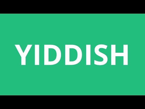 How To Pronounce Yiddish - Pronunciation Academy