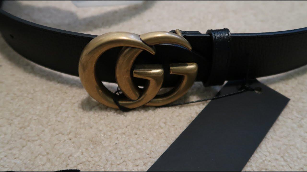 7d08961f7c4 Gucci Black Marmont Belt Pickup Unboxing - YouTube