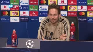 Kijk hier de persconferentie voor Ajax-Spurs terug