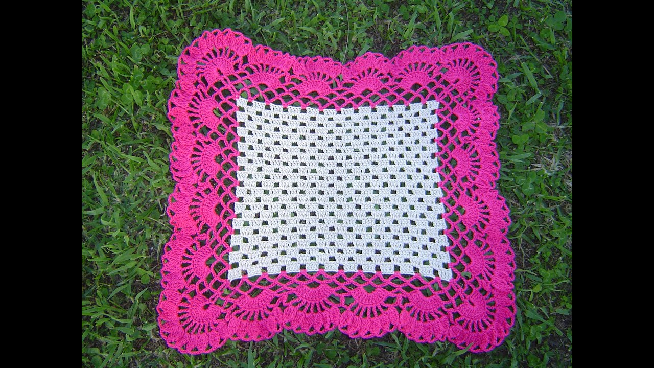 Carpeta cuadrada a crochet paso a paso parte 2/2 - YouTube