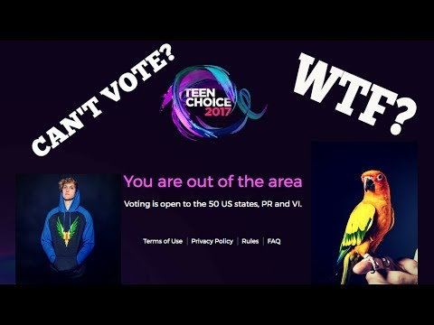 HOW TO VOTE FOR LOGAN PAUL OUTSIDE THE U.S.A!! (Teen Choice Awards 2017)