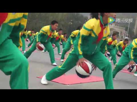 Basketball dribbling plus yoga: Kids showcase synchronized d