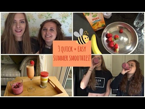 3 Quick & Easy Summer Smoothies!