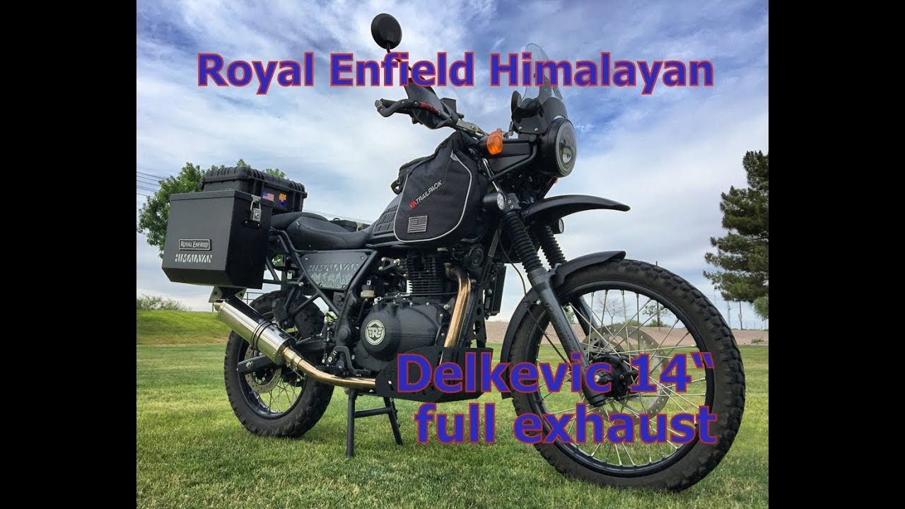 "2019 Royal Enfield Himalayan Delkevic 14"" Oval exhaust"