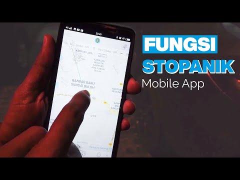 GPS TRACKER MALAYSIA | FUNGSI STOPANIK MOBILE APP