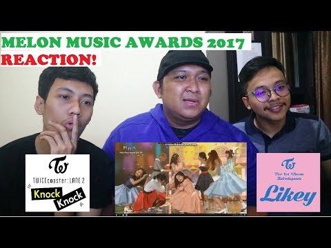 TWICE - KNOCK KNOCK + LIKEY AT MELON MUSIC AWARDS 2017 'REACTION' WITH KEVIN FERDIANSYAH & RIFQI