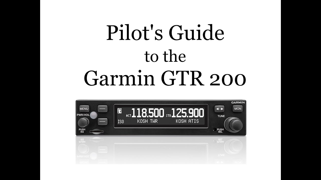 Pilot's Guide to the GTR 200  YouTube