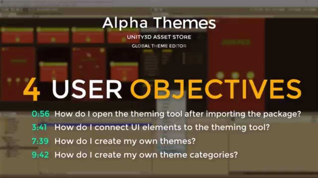 Global Theme Customizer for Unity3D