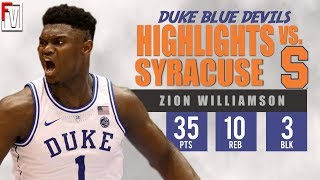 zion williamson dunks