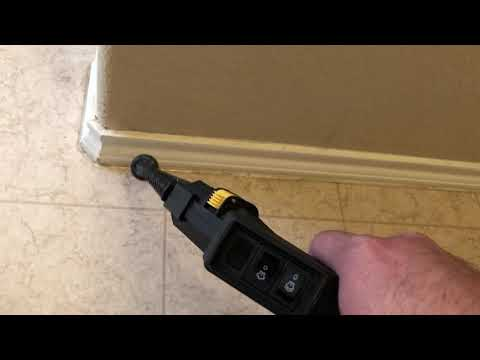 Steam Cleaning baseboards in bathroom