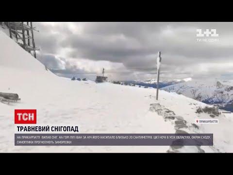 Новини України: на Прикарпатті знову випав сніг