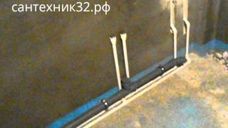 Монтаж водопровода и канализации в новой квартире видео(Видеоролик как смонтировать водопровод из полипропилена и канализацию из пластика в новостройке. САНТЕХНИ..., 2014-02-13T15:14:42.000Z)