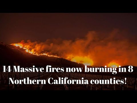 Massive Fast Moving Santa Rosa-Napa California Wildfires Torch over 2,000 Structures 23+ Dead