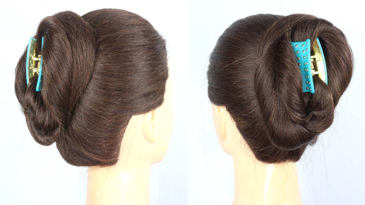 very easy juda hairstyle using clutcher    2 minute juda hairstyle    clutcher hairstyle #hairstyles
