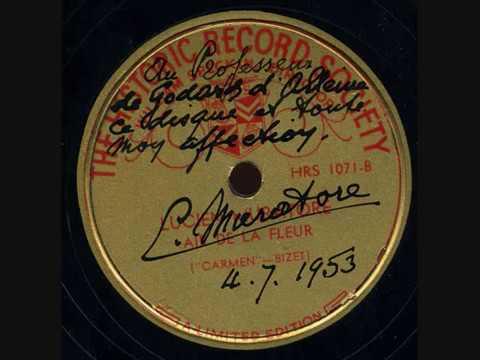 Lucien Muratore   Carmen   Air de la Fleur   Historic Record Society    HRS 1071