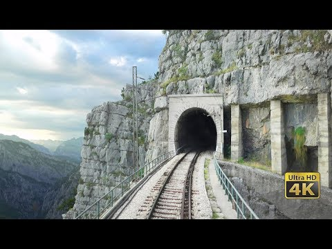 4K CABVIEW Bar - Bijelo Polje -102 tunnels -96 bridges -1029