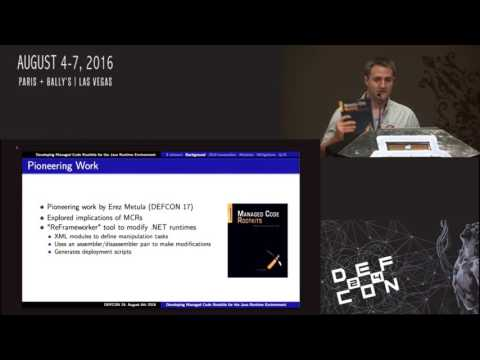 DEF CON 24 - Benjamin Holland - Developing Managed Code Rootkits for JRE