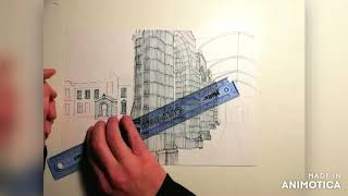 St Andrews University time lapse drawing