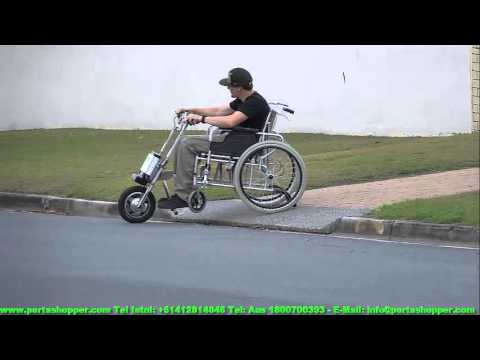 Wheelchair Power Assist Portawheel Setup - Beats any electric Wheelchair or Mobility Scooter