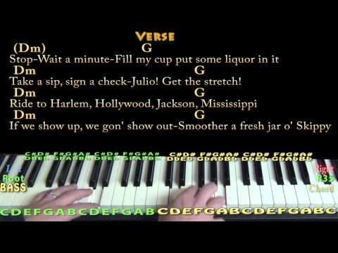 Piano uptown funk piano chords : Uptown Funk (Mark Ronson) Piano Cover Lesson with Chords/Lyrics ...