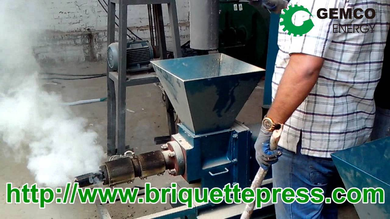 How to make biomass wood briquettes by a fuel sawdust