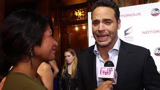 """Daniel Sunjata at the """"NOTORIOUS"""" red carpet Great answers!"""
