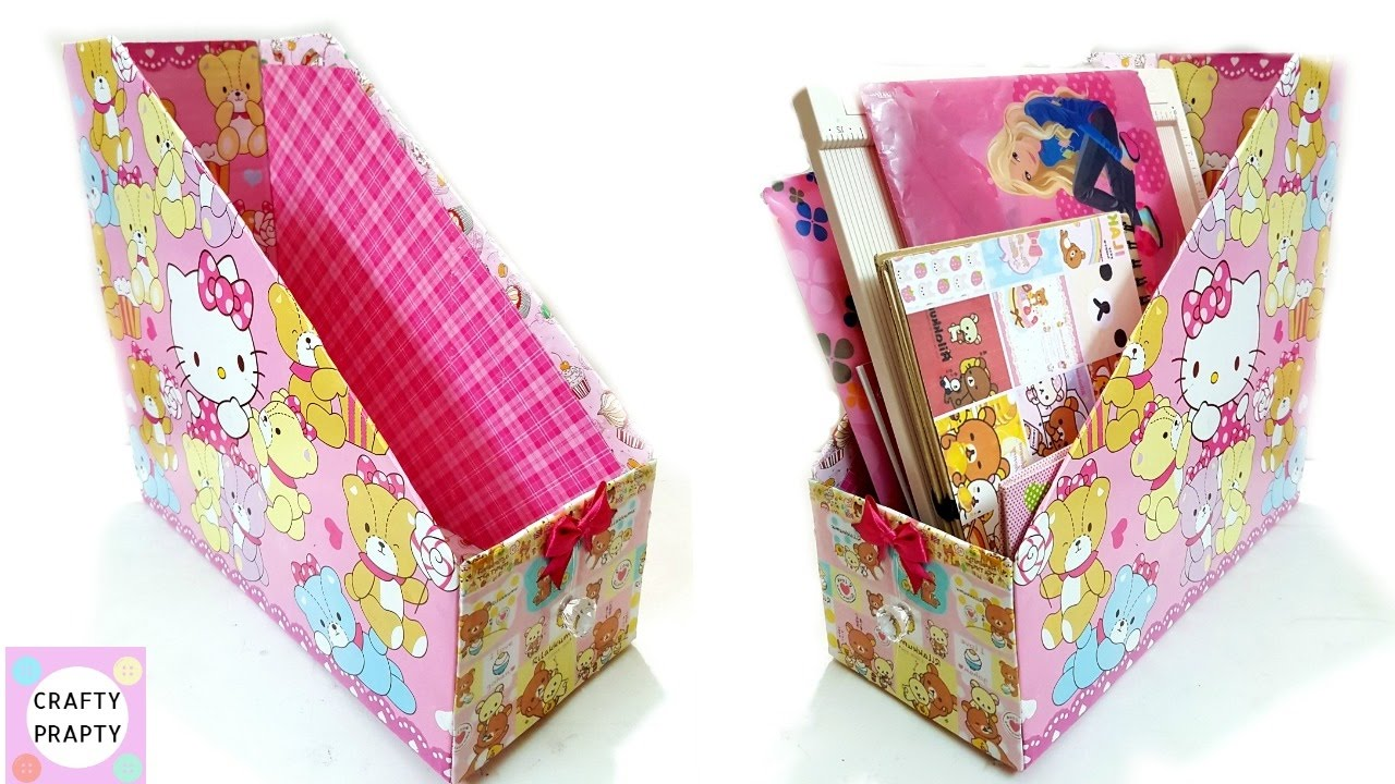 DIY Desk Organizer/DIY Magazine Holder/DIY Book Organizer