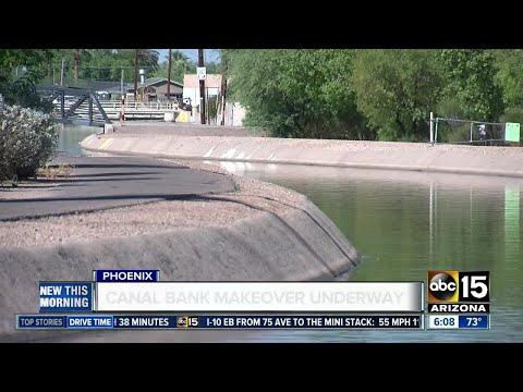 Phoenix-area canal banks getting a makeover