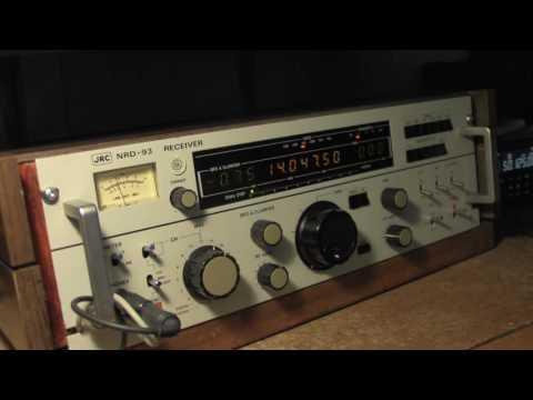 W1AW CW Practice 20 WPM on JRC NRD-93