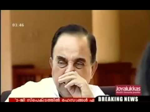 Subramanian Swamy - speaks on 2G Scam Sonia Raja Chidambram