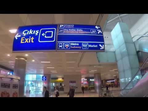 How to ride the Istanbul Ataturk Airport Subway from the International Arrivals NEW!(April 2017)