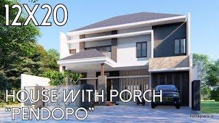 Rumah dengan Pendopo Lahan 12x20m [kode 150]