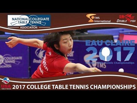 2017 TMS NCTTA - Women's Singles Yue Wu vs. Prachi Jha (Semifinal) Highlights
