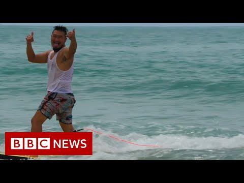 China's coronavirus-fuelled surfing boom - BBC News