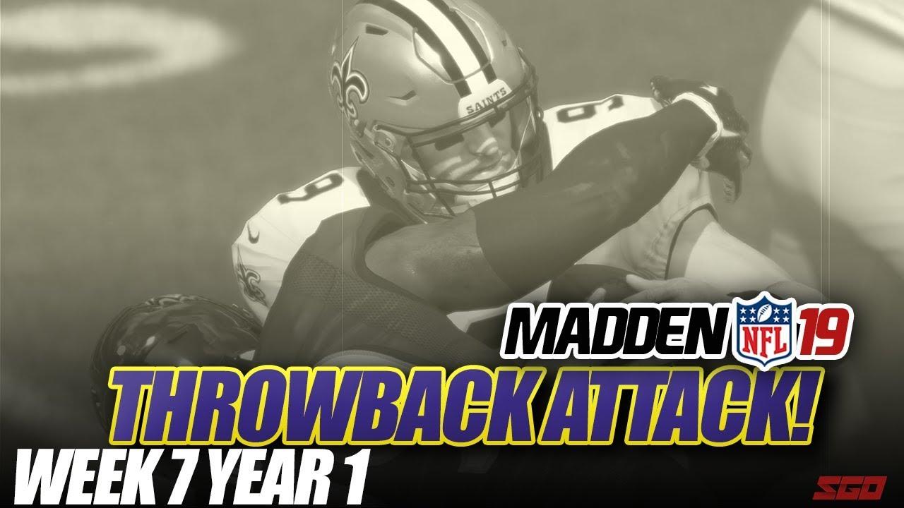 Madden 19 Connected Franchise   THROWBACK ATTACK! Week 7 Ravens vs Saints   Ep.7