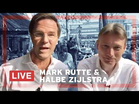 Mark Rutte en Halbe Zijlstra beantwoorden LIVE vragen op de Grote Markt in Den Haag.