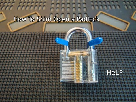 [50] Close-up On How To Shim Open a Padlock
