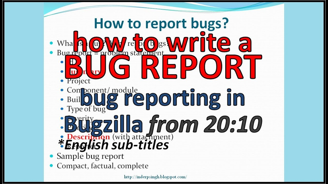 How to write Bug Report in Software Testing  Bug Reporting in Software  Testing  Bug Report Example