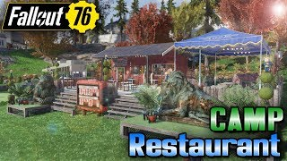 My CAMP Is A Restaurant!! + Camp gets NUKED - #Fallout76