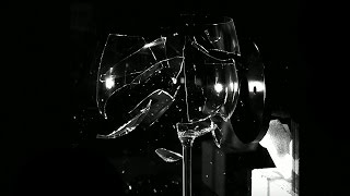 Breaking a Glass With SOUND In Slow Motion | Brit Lab