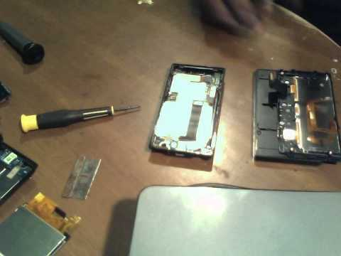 how to take apart HTC touchpro and remove digitizer from LCD part 2
