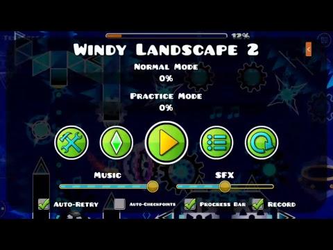 Geometry Dash | Windy Landscape (mobile) 30%