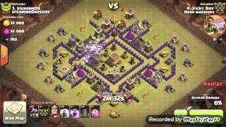 Clash of clans-Th8 anti dragon war base solution