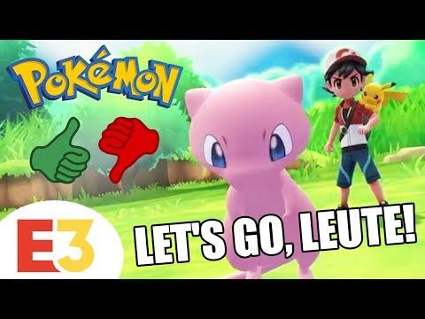 Gameplay von POKÉMON LET'S GO traumhaft!!! Nintendo E3 Direct lahm...