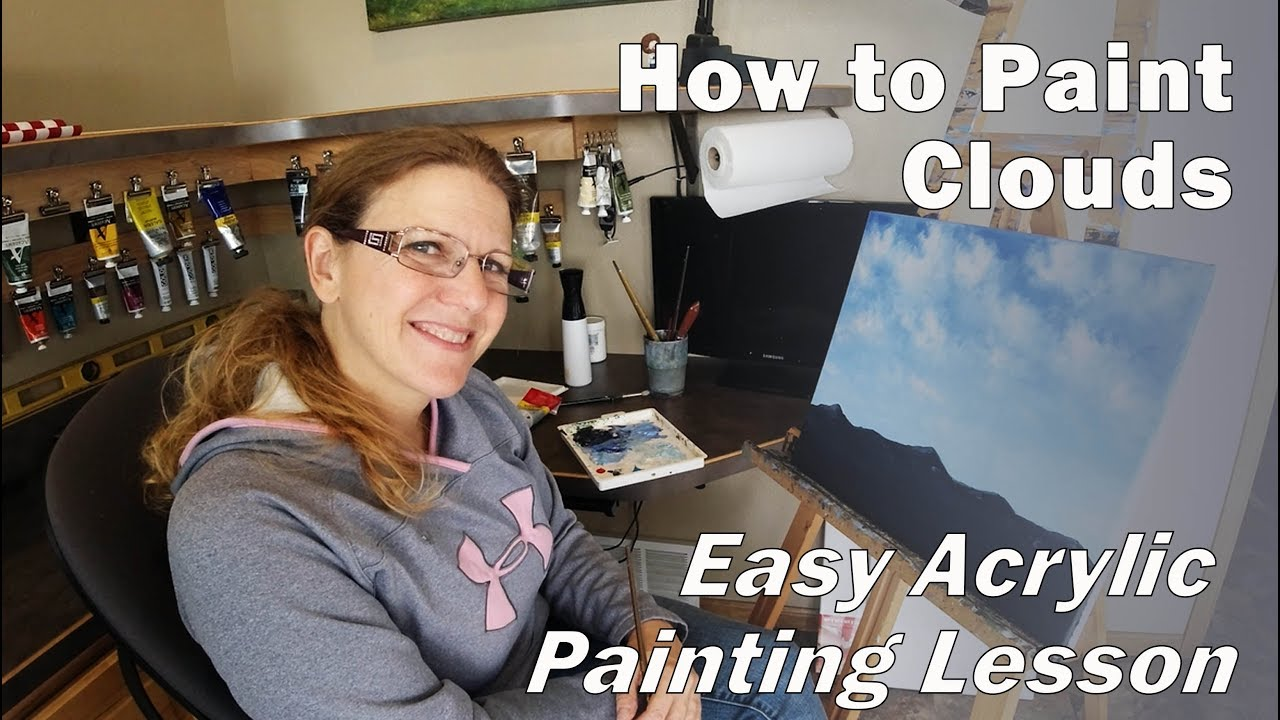 How to Paint Clouds with Charissa Rubey - Easy Acrylic Painting Lesson