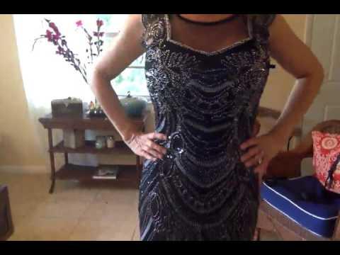 KAYAMIYA Women's 1920s Art Deco Beaded Embroidery Illusion Gatsby Flapper Dress Reviews