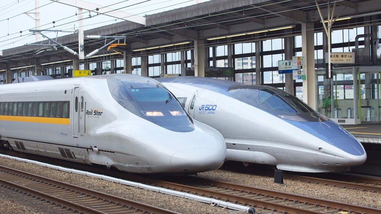 Japanese bullet train - SHINKANSEN Rail Star - YouTube
