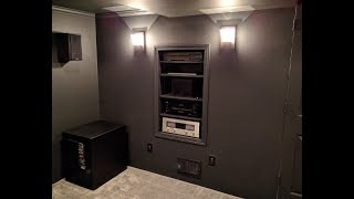 home theater [update 07] - recessed shelving & new projector mount installed!