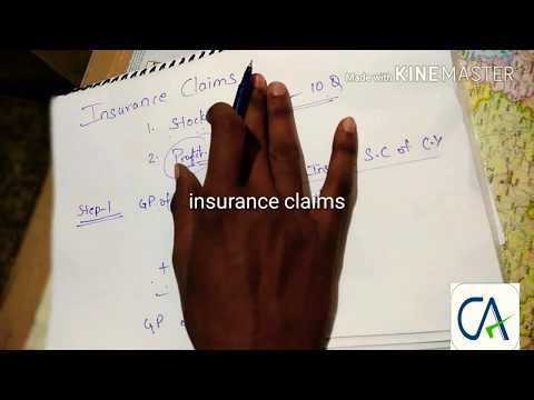 7 steps to calculate loss of profit in insurance claims in accounts in CA-ipcc in English